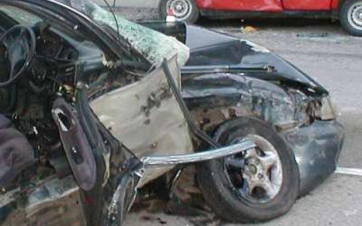 На МКАД столкнулись пять автомобилей, два человека пострадали