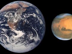 В ночь с 27.08.2016 на 28.08.2016 Марс приблизится к Земле и будет виден жителям России невооруженным глазом
