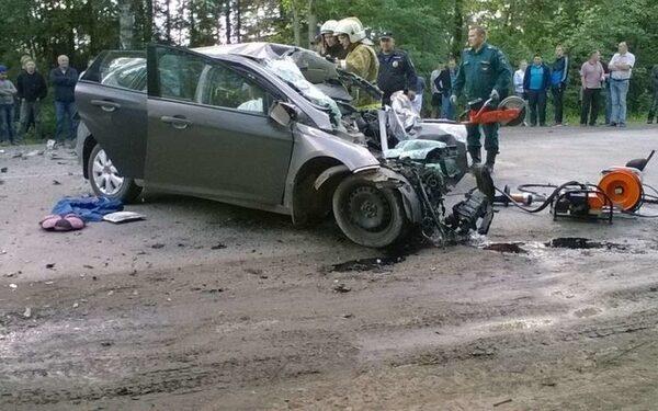 Место смертельной аварии в Кирове