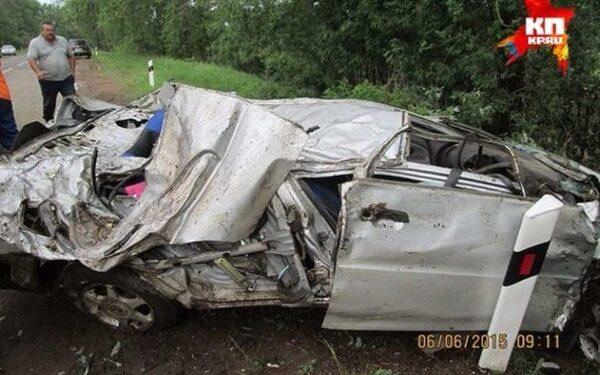 Место смертельной аварии в Удмуртии