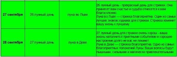 календарь стрижек 6