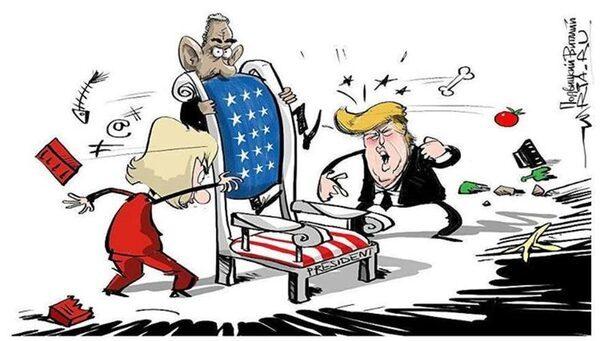 карикатура на американские выборы