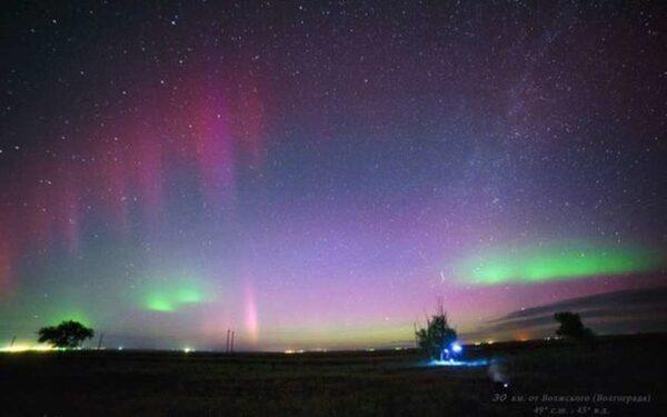 Жители России  в ночь на 23 июня могли наблюдать северное сияние