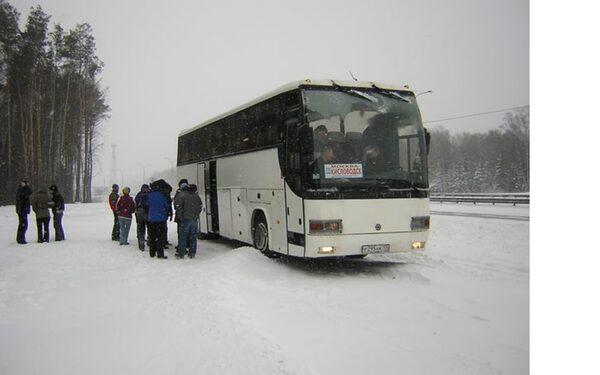 В Выселковском районе спасли от замерзания 65 пассажиров рейсового автобуса