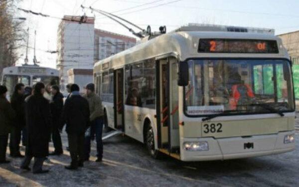 троллейбус в ДТП