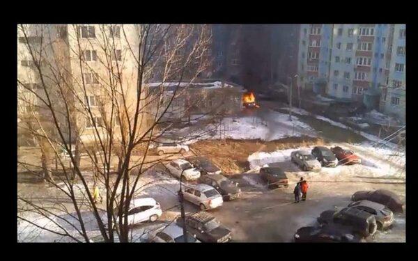 Взорвалась машина