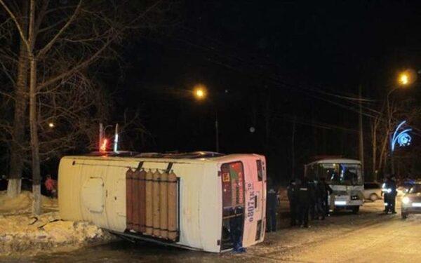 В Томске столкнулись два автобуса