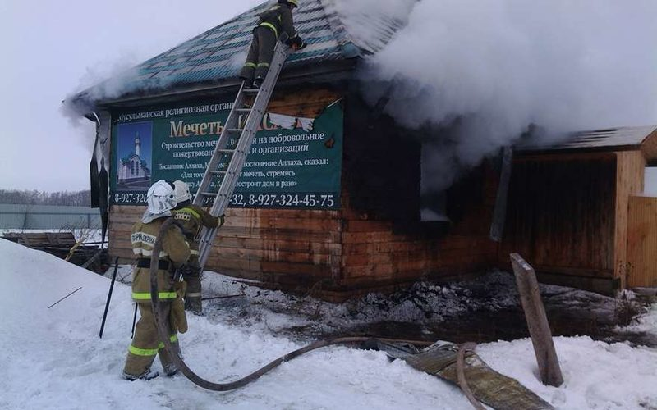 В Уфе сегодня утром загорелась мечеть