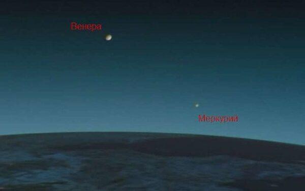 Меркурий и Венера на небе