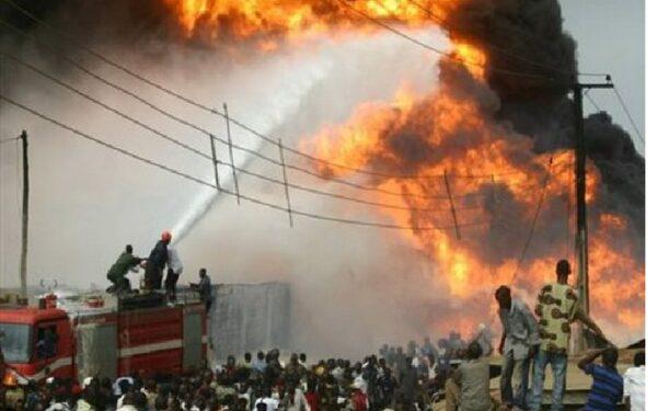 Пожар на рынке в Нигерии