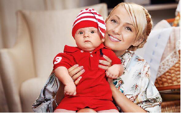 Рудковская с сыном