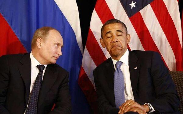 Путин Обама