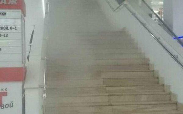 В Красноярске из ТЦ «Квант» из-за пожара эвакуировали посетителей