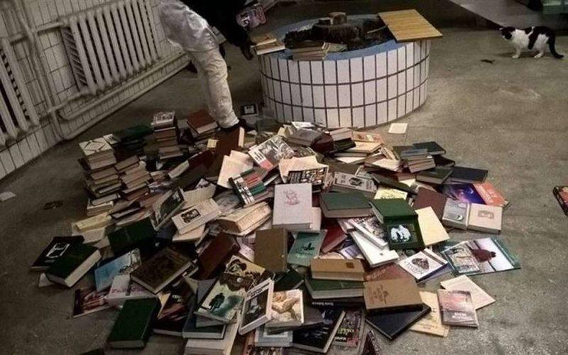 Средневековые дикости: в киевском вузе нацисты сожгли книги русских классиков под крики: «Слава Украине!»