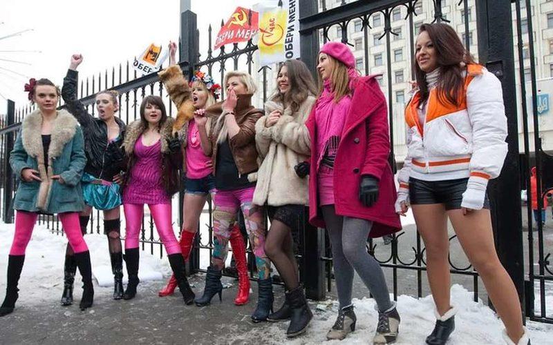 В Киеве «жрицы любви» вышли на Майдан с требованиями легализовать проституцию как в ЕС