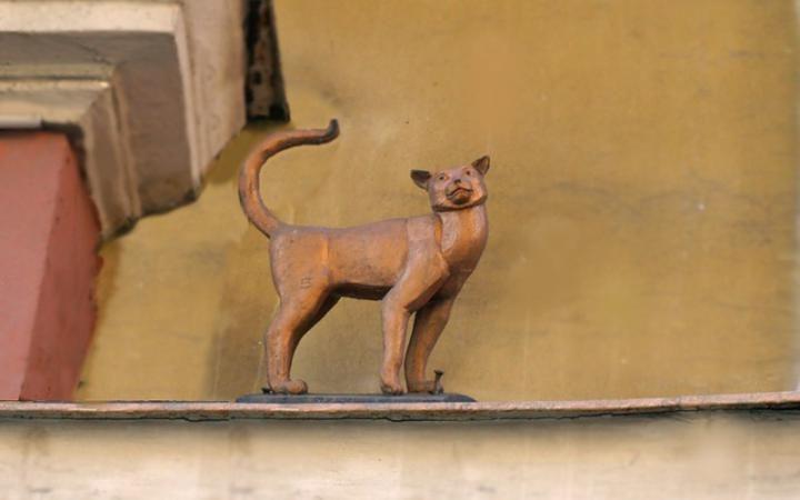 В Петербурге исчезла скульптура кошки-блокадницы