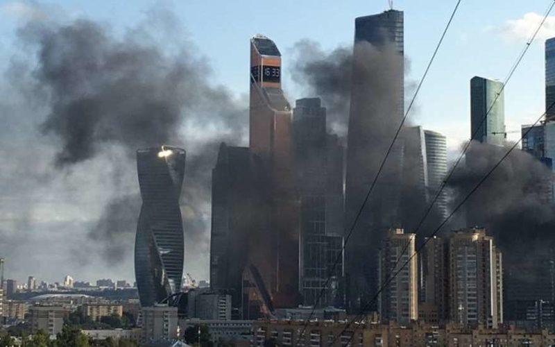 Москва сити пожар сейчас: новые видео шокируют москвичей