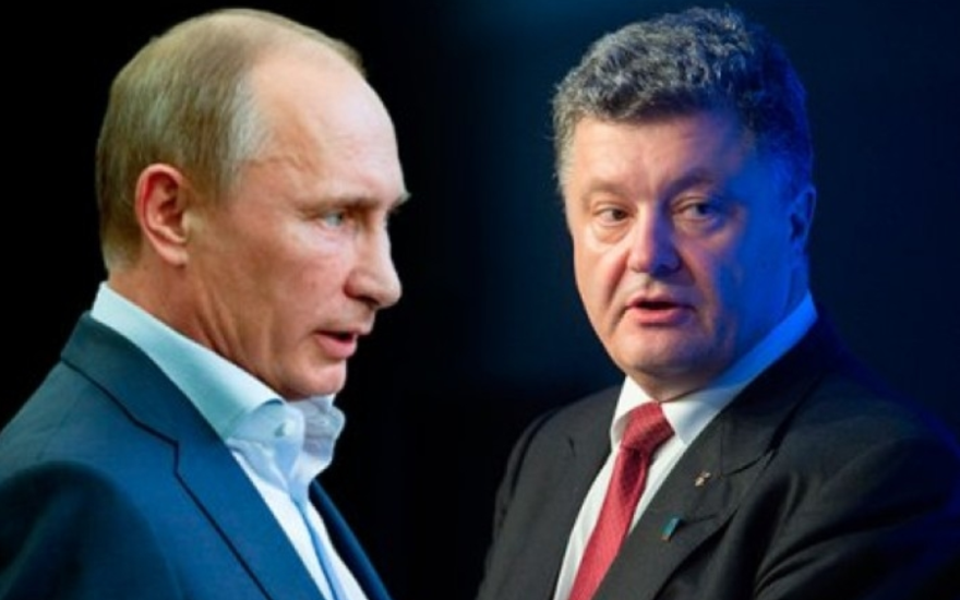 Владимир Путин и Порошенко