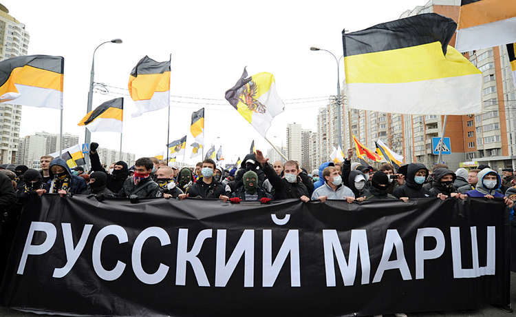"""В Петербурге после """"Русского марша"""" задержано 80 человек"""