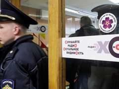 Опубликовано видео задержания нападавшего на ведущую «Эха Москвы»