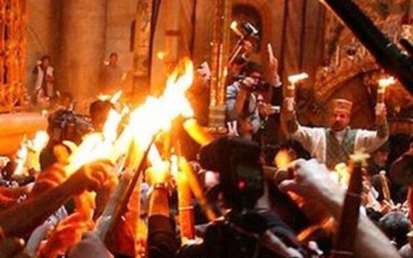 Сошествие Благодатного огня в Иерусалиме