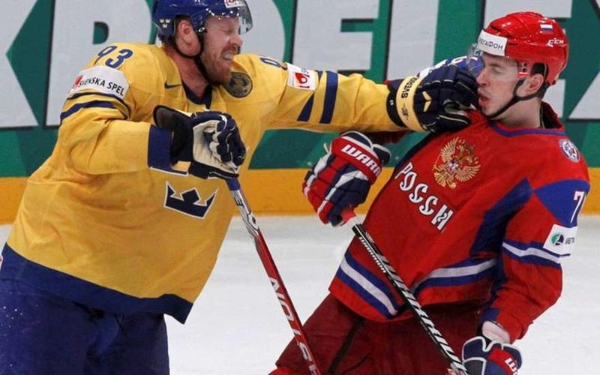 матч хоккейных сборных России и Швеции