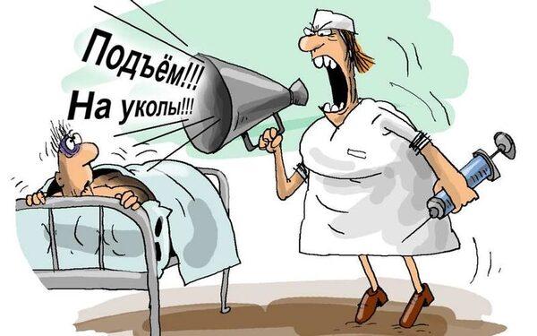 Нервный пациент душил медсестру