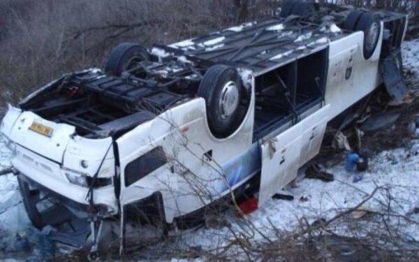 В Пермском крае перевернулся пассажирский автобус