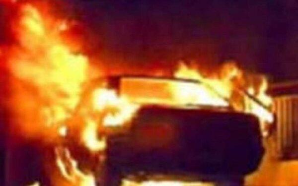 В Воронежской области сгорел автомобиль