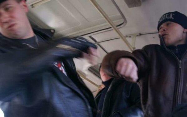 драка в толлейбусе