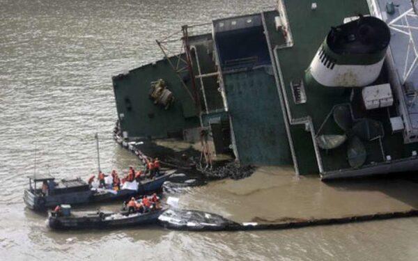 При крушении буксира на реке Янцзы без вести пропал 1 человек