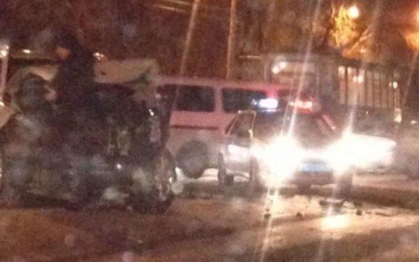 ДТП, Оренбургская область: от удара маршрутка с пассажирами улетела в кювет, ФОТО