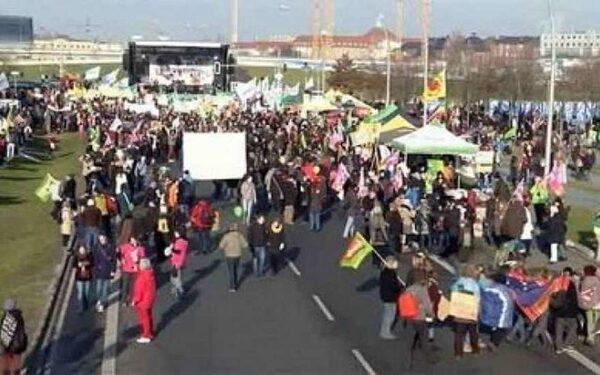 Фермеры Берлина протестуют против свободной торговли с США