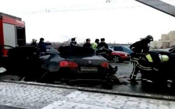 В Москве на Крымском мосту в ДТП погиб мужчина
