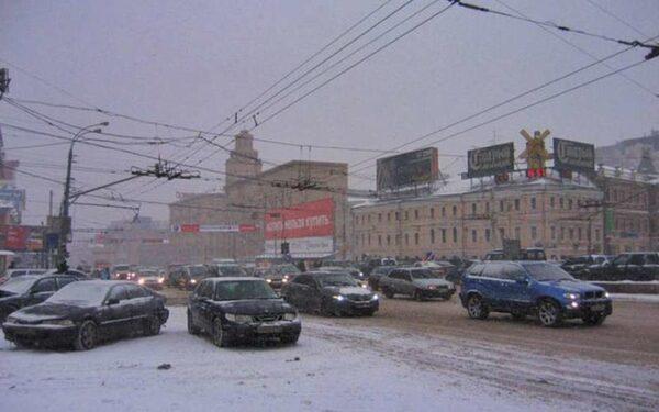 В Москве массовая авария,есть пострадавшие