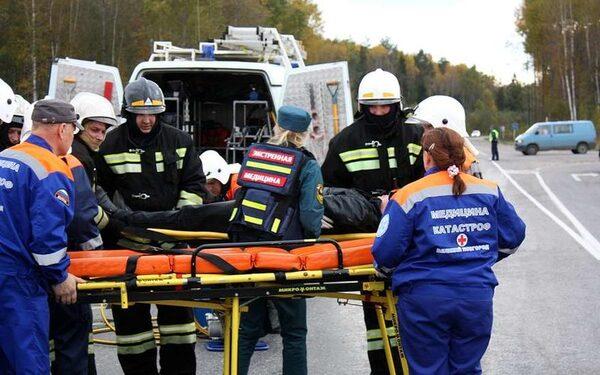 В лобовом столкновении под Красноярском один человек погиб, трое пострадали