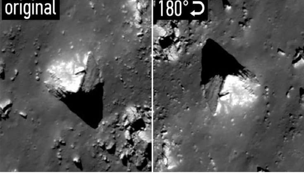 На темной стороне Луны обнаружена пирамида