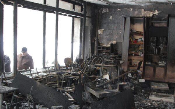 В Орске пожар в здании администрации