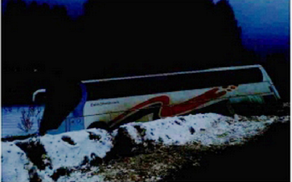В Калужской области автобус с паломниками вылетел в кювет