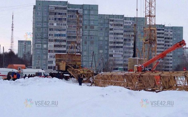 В Кемерово рухнала конструкция башенного крана, есть пострадавшие