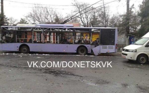 Донецкие новости последнего часа 22 01 15, в Донецке взорван троллейбус, обстрел Горловки, сводки ополченцев ДНР и ЛНР