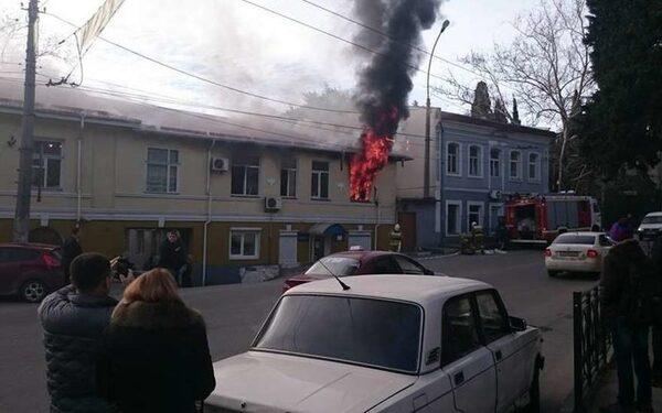 Ялтинское МВД горело 9 января