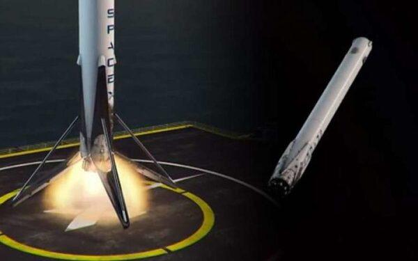 SpaceX  удалось поймать отработанную ступень ракеты-носителя  Falcon 9